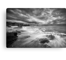 Eco Beach Stormclouds Metal Print