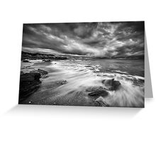 Eco Beach Stormclouds Greeting Card