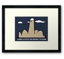 Funny Rock Climbing Cartoon Framed Print