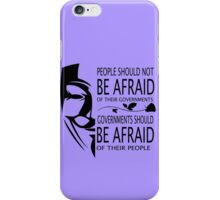 Governments Be Afraid iPhone Case/Skin