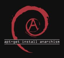 apt-get install anarchism  T-Shirt