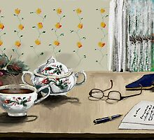 MORNING COFFEE by Sandra  Aguirre