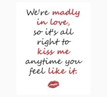 Madly in Love, so Kiss Me Kids Clothes