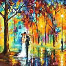 Rainy Wedding — Buy Now Link - www.etsy.com/listing/157760154 by Leonid  Afremov