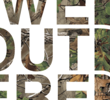 We Out Here (camo) Sticker