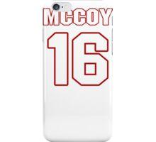 NFL Player Colt McCoy sixteen 16 iPhone Case/Skin