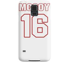 NFL Player Colt McCoy sixteen 16 Samsung Galaxy Case/Skin