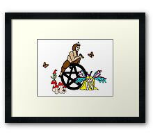 Faeries, Pan and a Pentacle Framed Print
