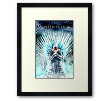 Winter Is HERE Framed Print