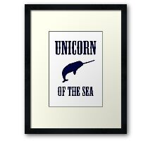 Narwhals: Unicorn of the Sea Framed Print