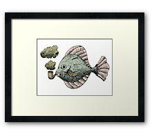 Fish Pipe Framed Print