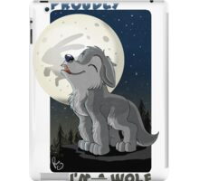 Proudly I'm a wolf iPad Case/Skin