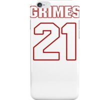 NFL Player Brent Grimes twentyone 21 iPhone Case/Skin