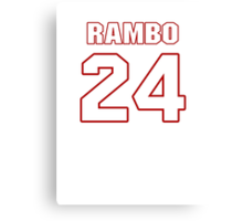 NFL Player Bacarri Rambo twentyfour 24 Canvas Print