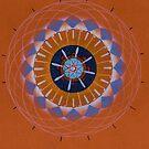 orange eye mandala by resonanteye