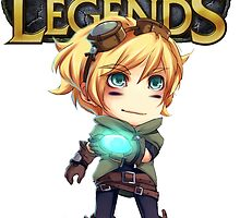 league of legend Cartoon Ezreal by Jungyoomi