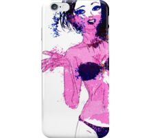 Watercolor bikini girl iPhone Case/Skin