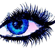 Digital watercolor female eye by AnnArtshock