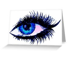 Digital watercolor female eye Greeting Card