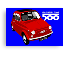 Classic Fiat 500 red Canvas Print