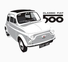 Classic Fiat 500 white T-Shirt