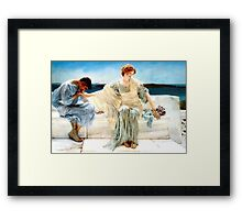 Ask me no more by Sir Lawrence Alma-Tadema Framed Print