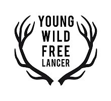 young, wild, freelancer with deer antlers by beakraus