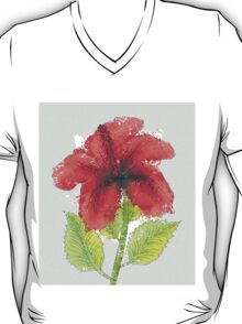 Watercolor red hibiscus 2 T-Shirt