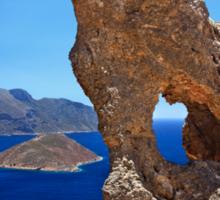 Natural Rocky Arch - Kalymnos island Sticker