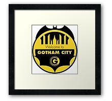 Welcome Gotham Framed Print