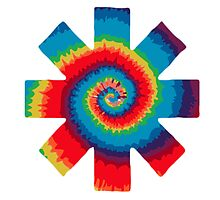 Red Hot Chili Peppers - Tie Dye Symbol  by phenommachine