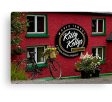 Kitty Kelly's restaurant, Donegal - wide Canvas Print