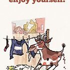 Enjoy yourself birthday card by dotmund
