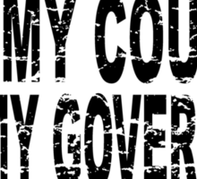 LOVE COUNTRY, FEAR GOVERNMENT (FADED) Sticker