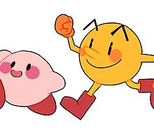 Kirby and Pac-Man by viernes