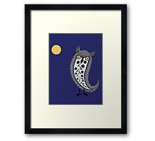 Paisley Night Owl Framed Print