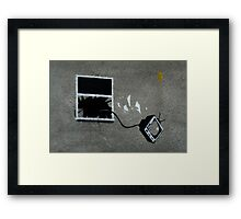 Out the window Framed Print