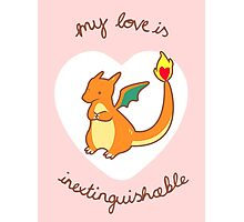 Charizard Valentine V2 Photographic Print