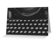 Woodstock Typewriter Study 1 Greeting Card