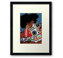 Old School Afro Framed Print