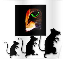 Charming Cat Watching! Poster