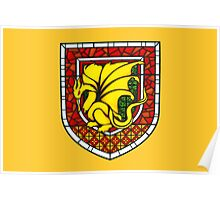 Stained Glass Pendragon Crest Poster