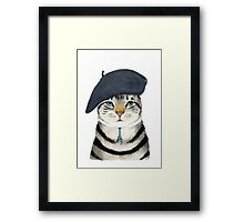 Charming French Cat  Framed Print