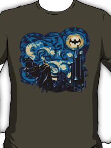 Dark Blue Starry Knight Abstract T-Shirt