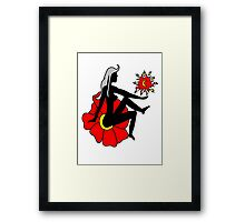 Faerie Silhouette on a Flower Framed Print