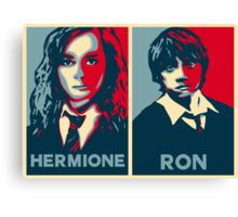 Hermione and Ron Canvas Print