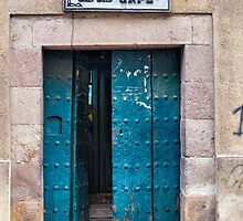 Doors of Bolivia - The Chaplin Cafe by lenscraft