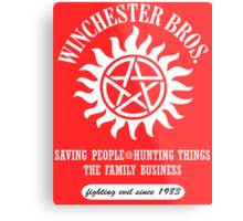 SUPERNATURAL - WINCHESTER BROTHERS SINCE 1983 Metal Print