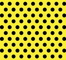 Polkadots Yellow and Black by Medusa81