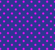 Polkadots Blue and Pink by Medusa81
